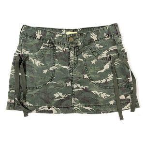 Levi's 5 Small CAMO Cargo Skirt Mini Short Pockets